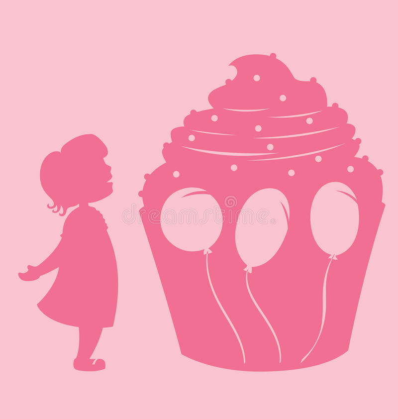 Download Girl And Cupcake stock vector. Image of invitation, design - 19280222