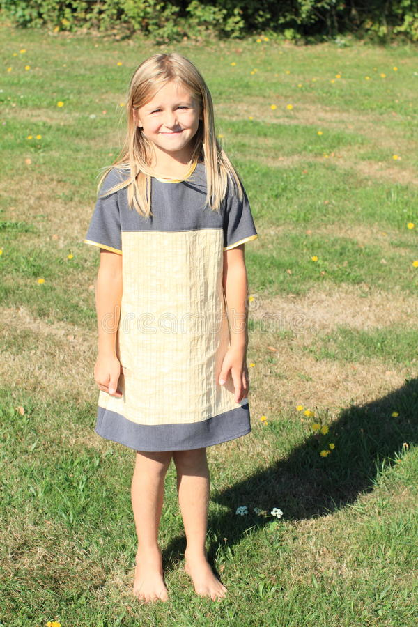 Download Girl in cute dress stock image. Image of meadow, smile - 33462039