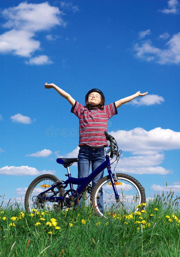 Download Girl Cycling Stock Photos - Image: 2383033