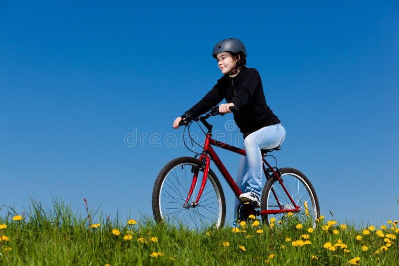 Girl Cycling Royalty Free Stock Photos