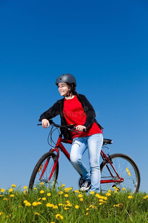 Girl Cycling Stock Photos