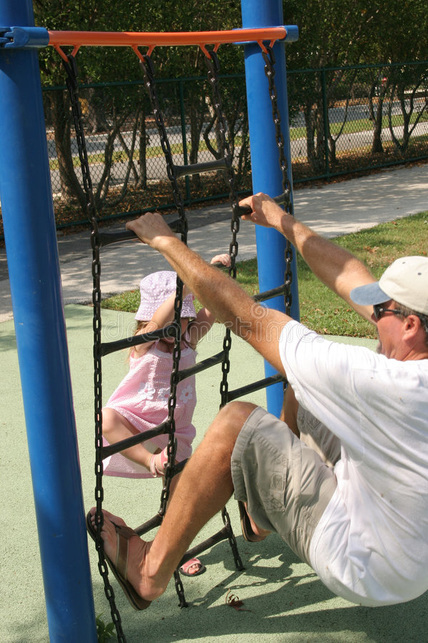 Download Girl with dad stock photo. Image of smiles, park, laugh - 225874
