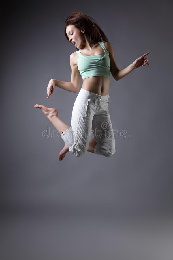 Girl Dance Stock Photography