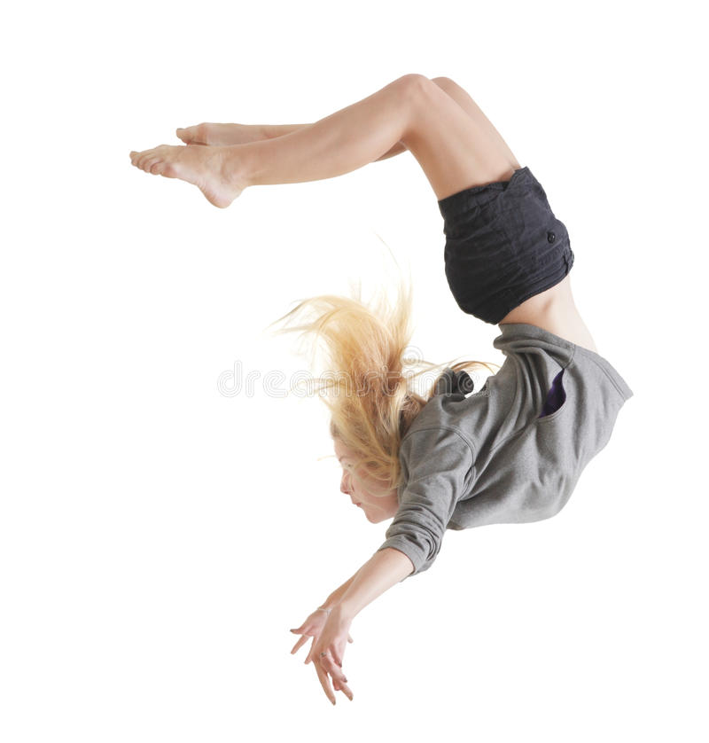 Girl dance royalty free stock photography