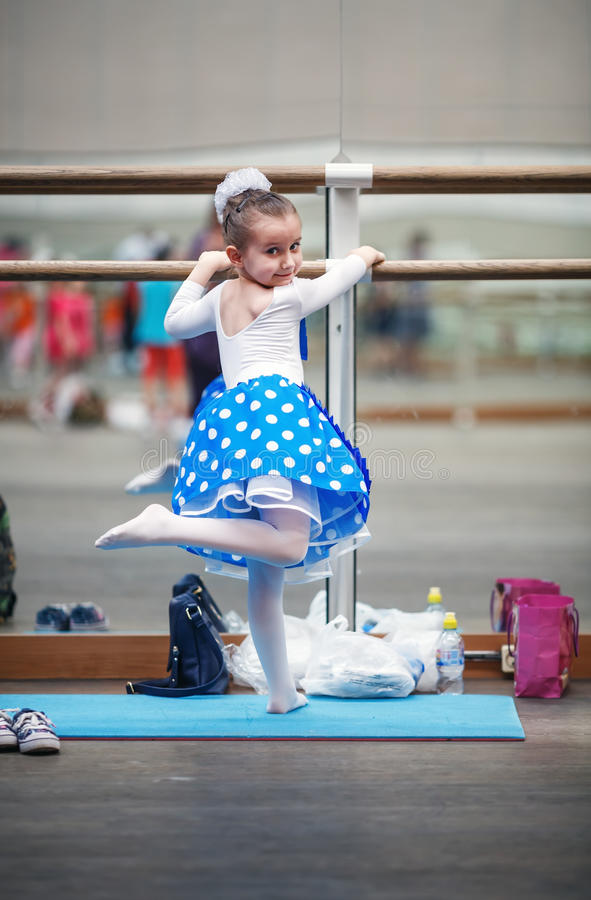 Girl in dance class stock images