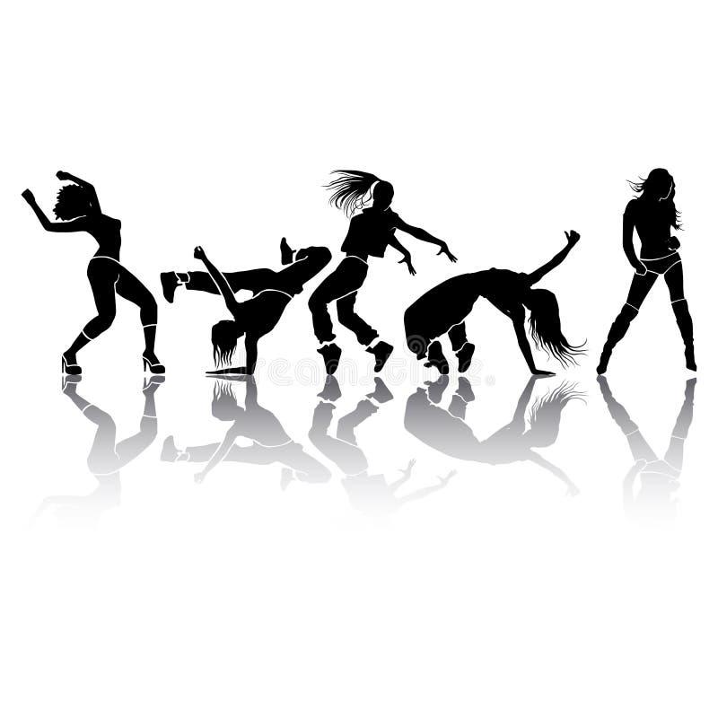 Girl dance vector illustration