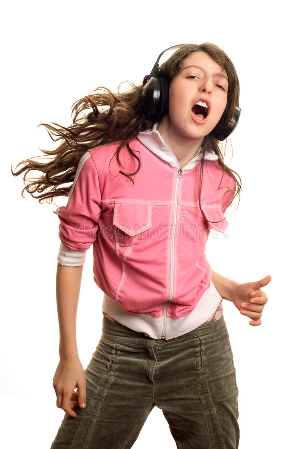 The girl dances stock images