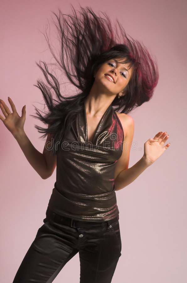 The girl dances royalty free stock photo
