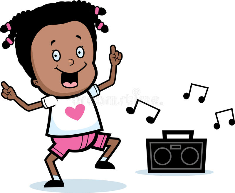 Girl Dancing royalty free illustration