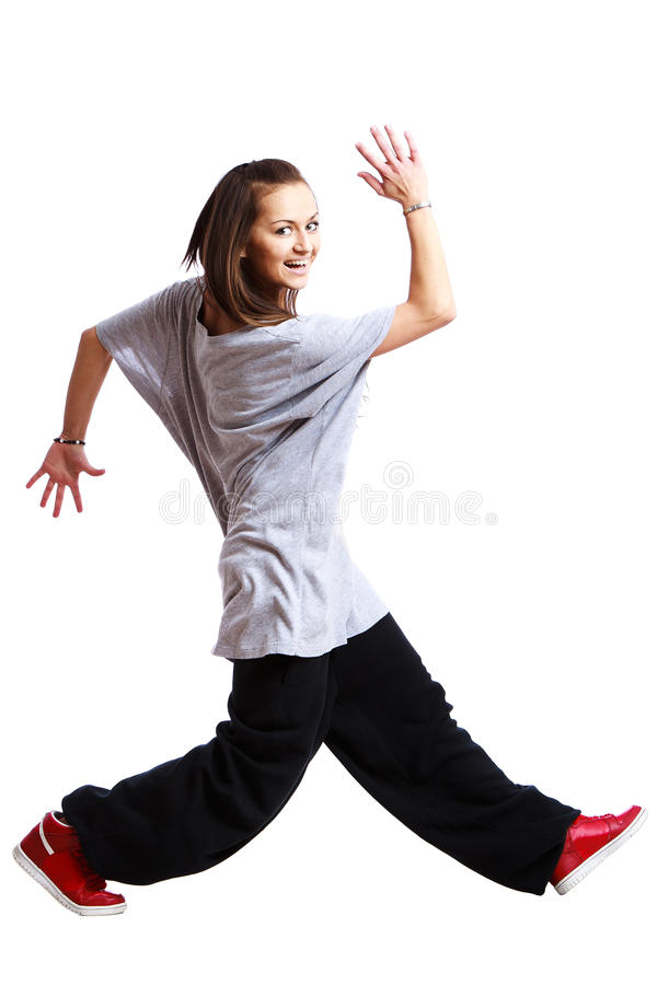 Girl is dancing royalty free stock image