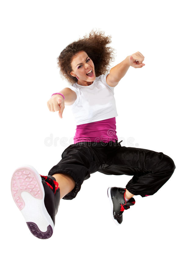Download Girl dancing hip-hop stock photo. Image of expression - 20484520