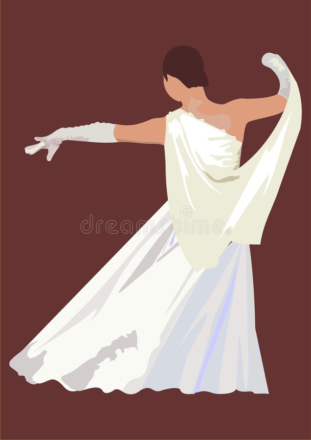 Free Girl Dancing In A White Gown Stock Images - 6825774