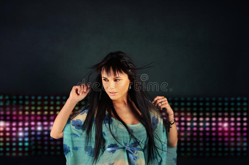 Download Girl Dancing In The Night Club Stock Photo - Image: 10169574