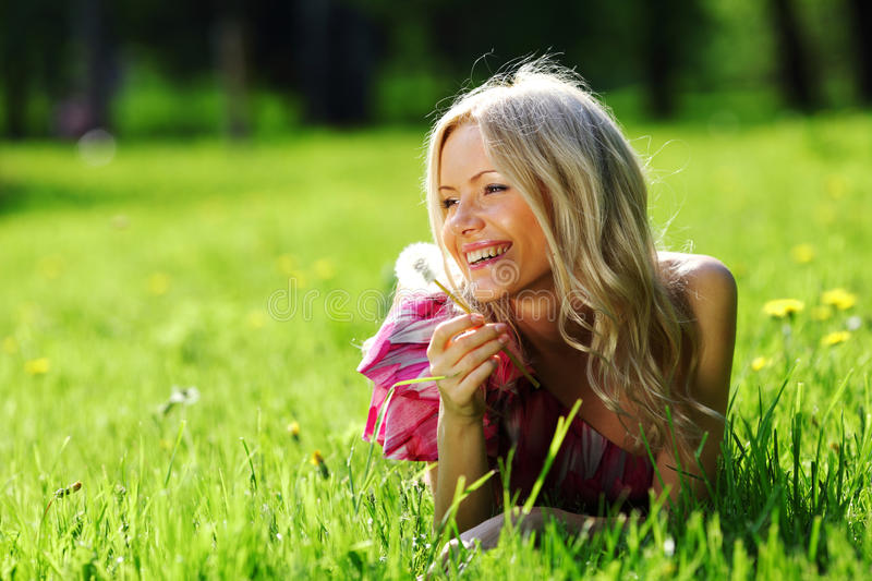 Download Girl With Dandelion Royalty Free Stock Photos - Image: 22990878