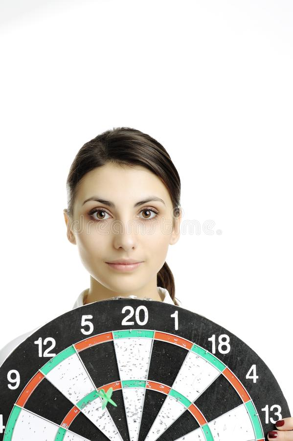 Download Girl with dartboard stock image. Image of success, games - 18362333