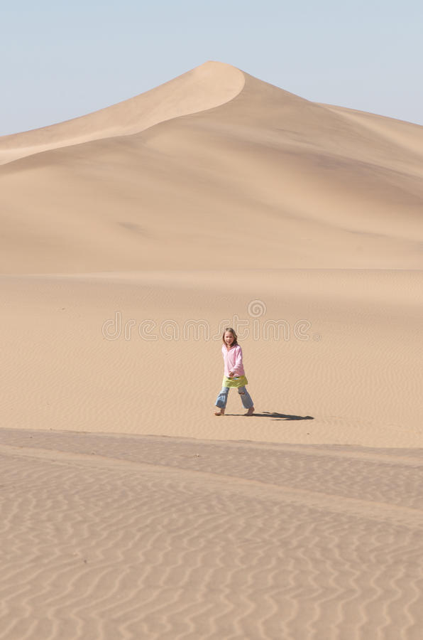 Download Girl in the desert stock photo. Image of blond, white - 13860018