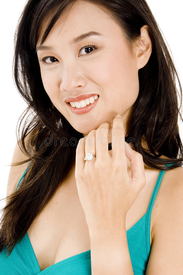 Download GIrl With Diamond Ring stock image. Image of hand, diamond - 1117347