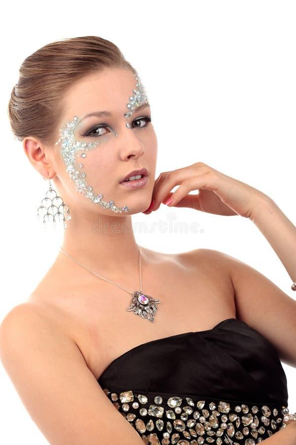 Girl diamonds stock photo