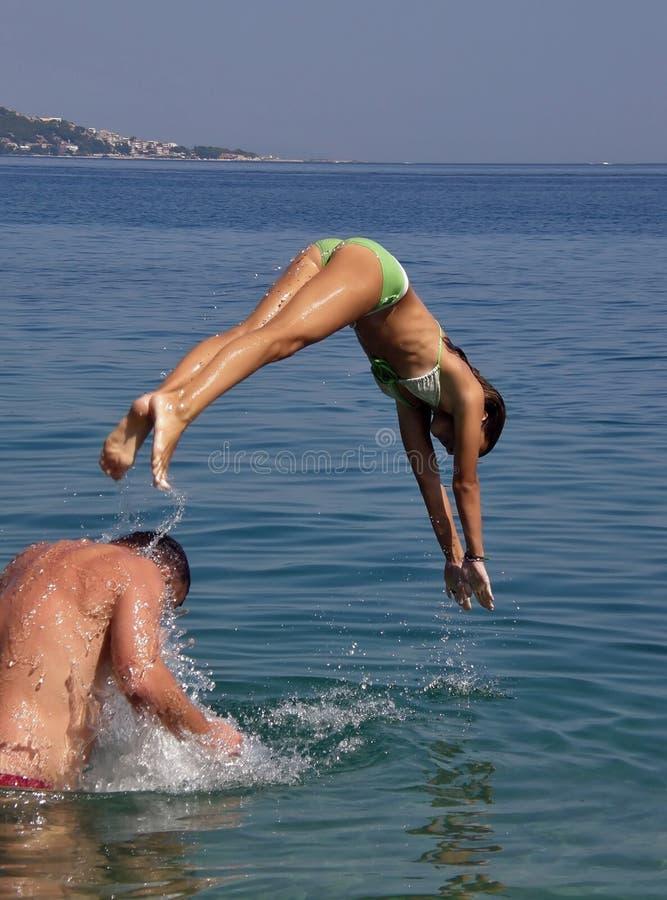 Free Girl Diveing In Sea Stock Image - 13291021