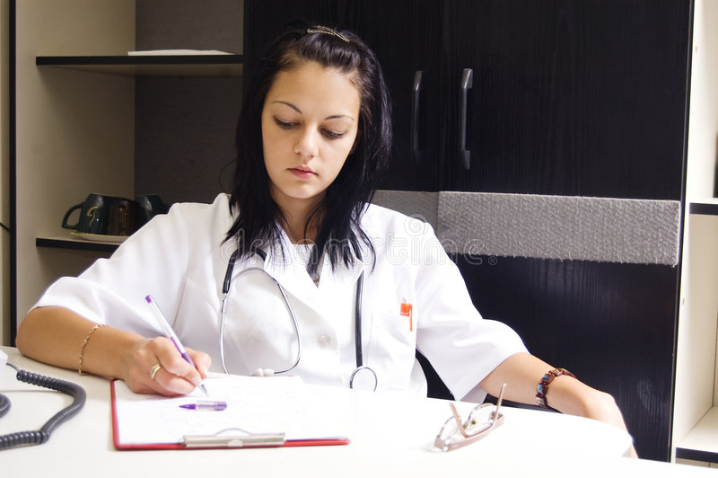 Girl doctor stock images