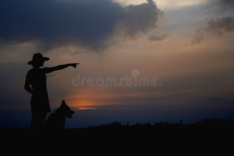 Download Girl And A Dog Stock Images - Image: 184194