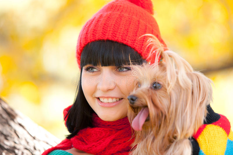 Download Girl With Dog Royalty Free Stock Images - Image: 21505859