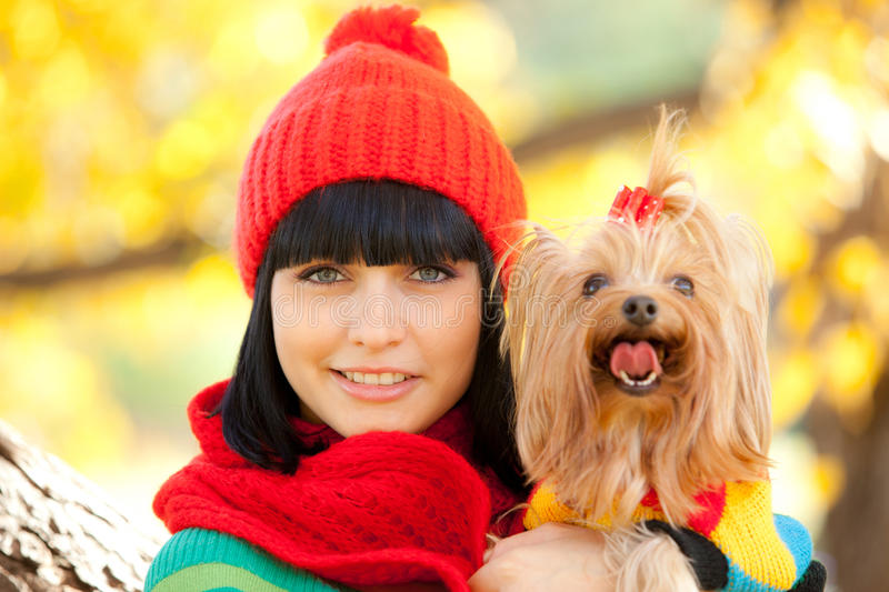 Download Girl with dog stock photo. Image of cute, friendship - 22093454