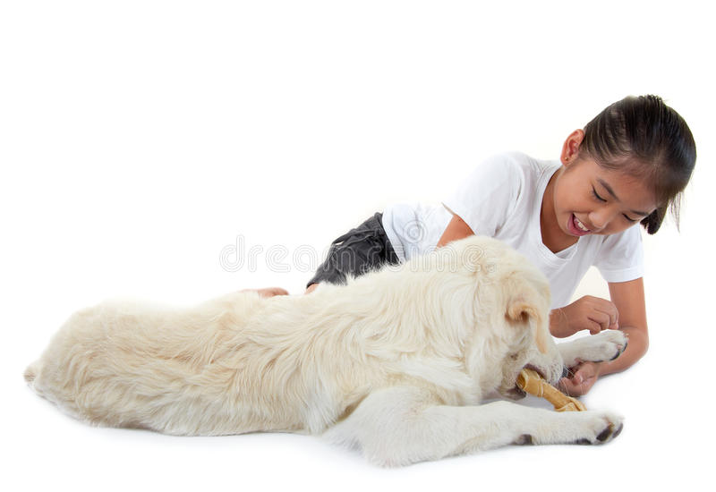 Download Girl And Dog Royalty Free Stock Images - Image: 23180669