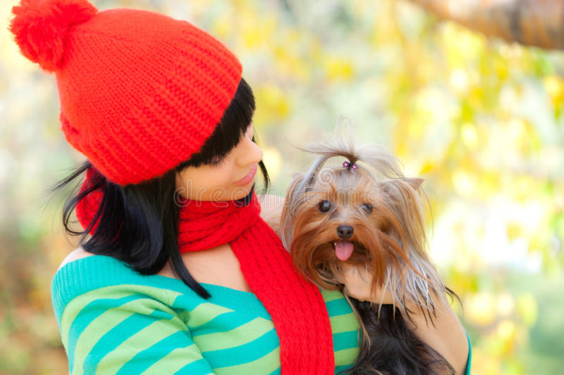 Download Girl With Dog Stock Photos - Image: 26206553