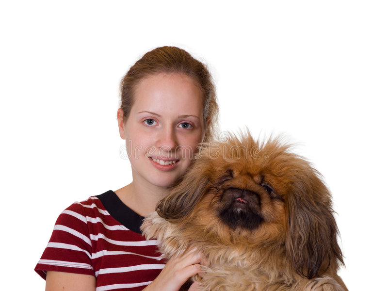 Download Girl And Dog Stock Image - Image: 3587031