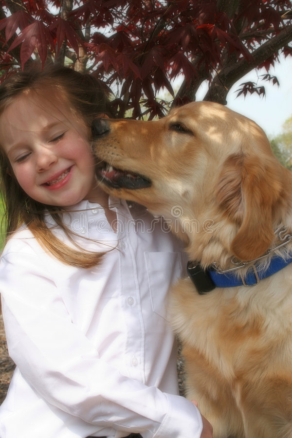 Download Girl and Dog stock image. Image of love, friend, happy - 7013825