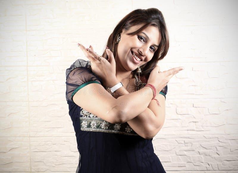 Download Girl doing bhangra dance stock photo. Image of jewellery - 17650234