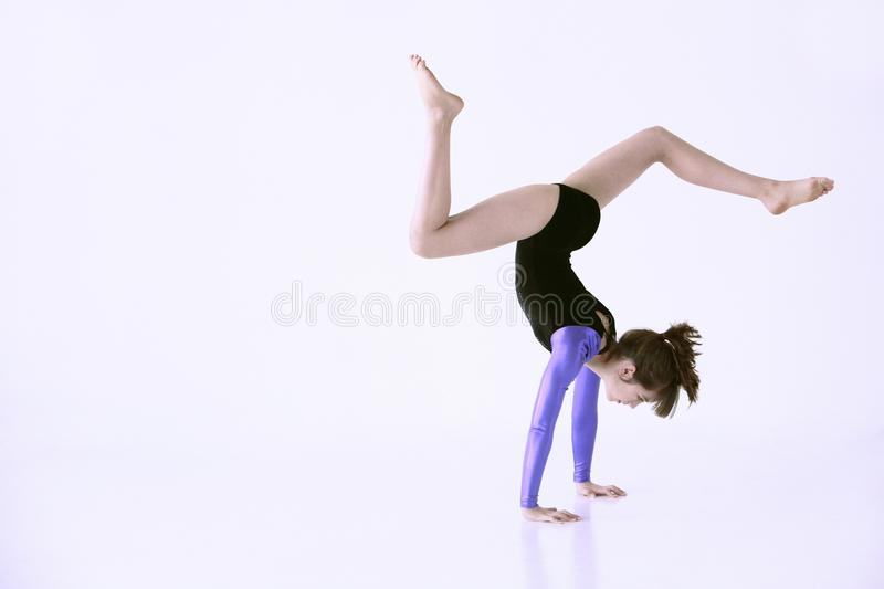 Girl Doing Gymnastics Royalty Free Stock Images