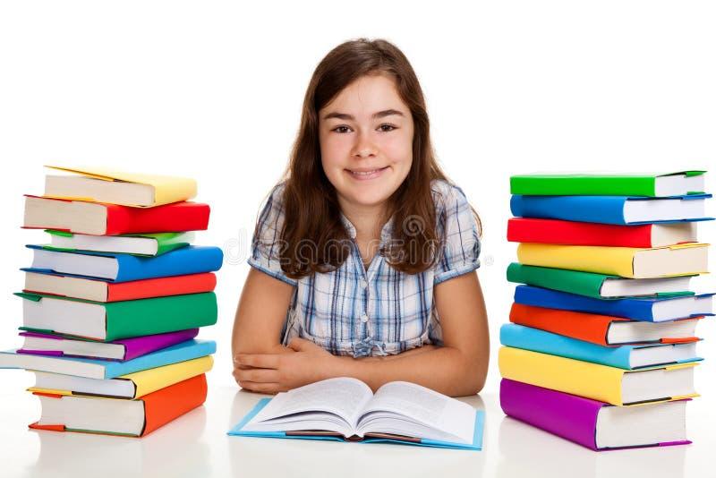 Download Girl doing homework stock image. Image of child, book - 15961945
