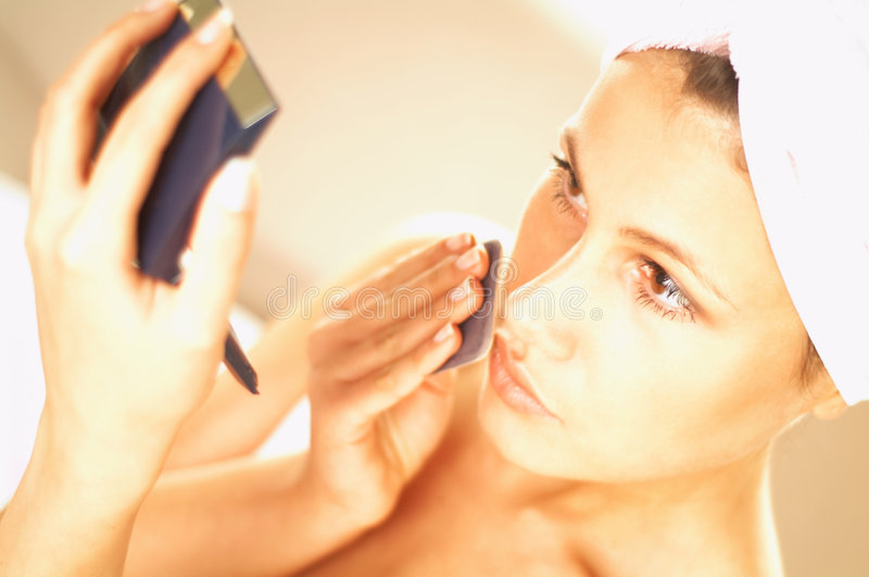 Download Girl doing makeup stock photo. Image of enjoy, body, look - 500790