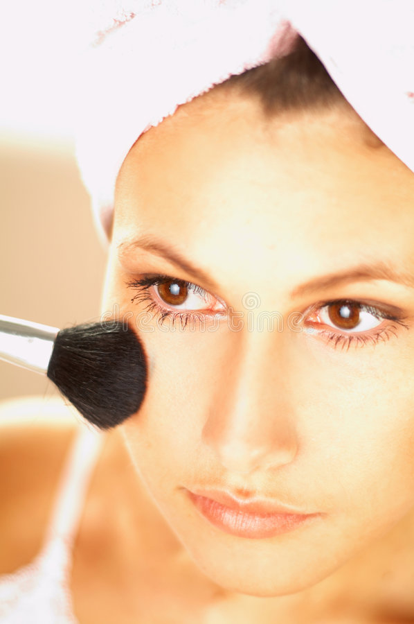 Download Girl Doing Makeup Stock Photos - Image: 504883