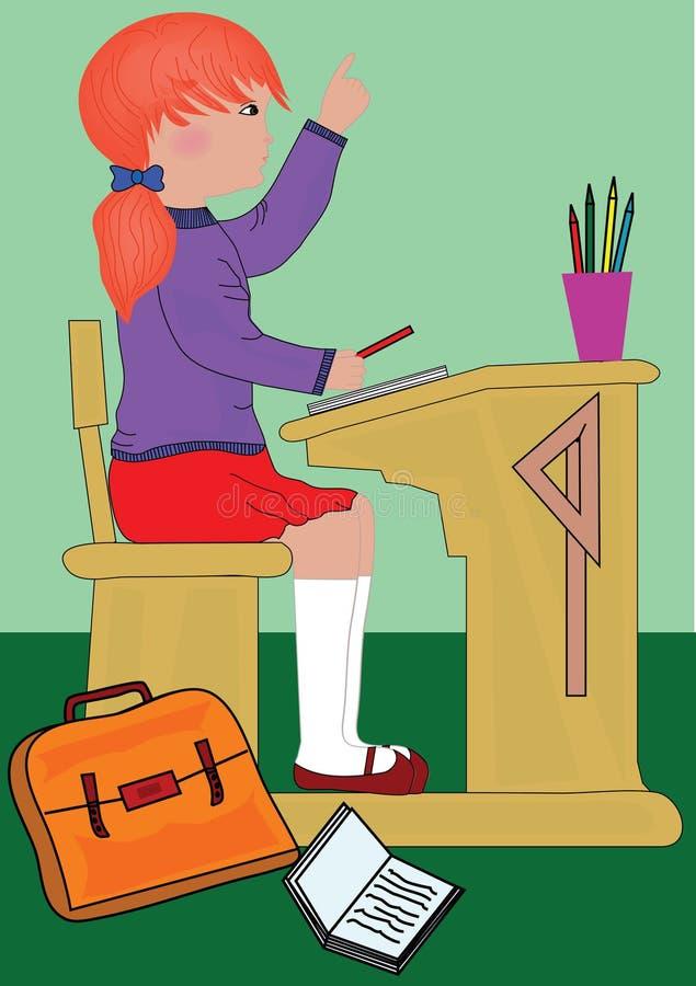 Download Girl doing school work stock vector. Image of class, haversack - 4488195
