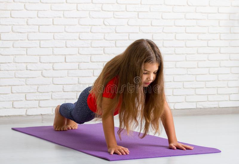 Girl Doing Sport royalty free stock image