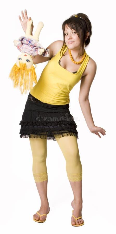 Download Girl & Doll 4 stock image. Image of childhood, girl, doll - 10337353