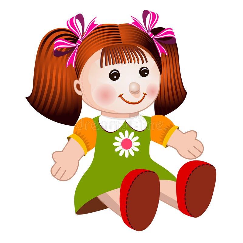 Girl doll vector illustration stock image