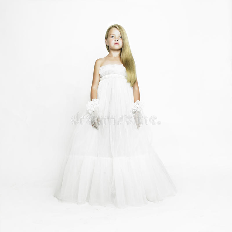 Download Girl-doll In White Vintage Dress Stock Image - Image of costume, portrait: 28699325