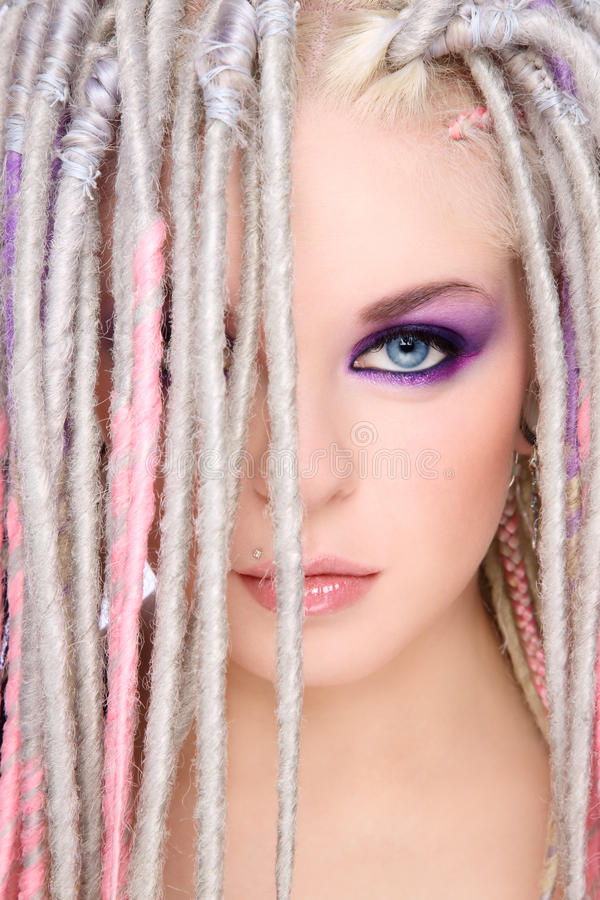 Girl with dreads royalty free stock image