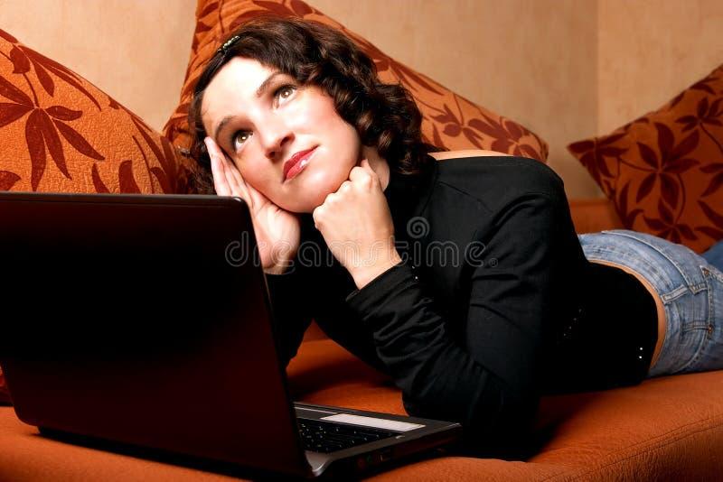 Girl dreaming royalty free stock image