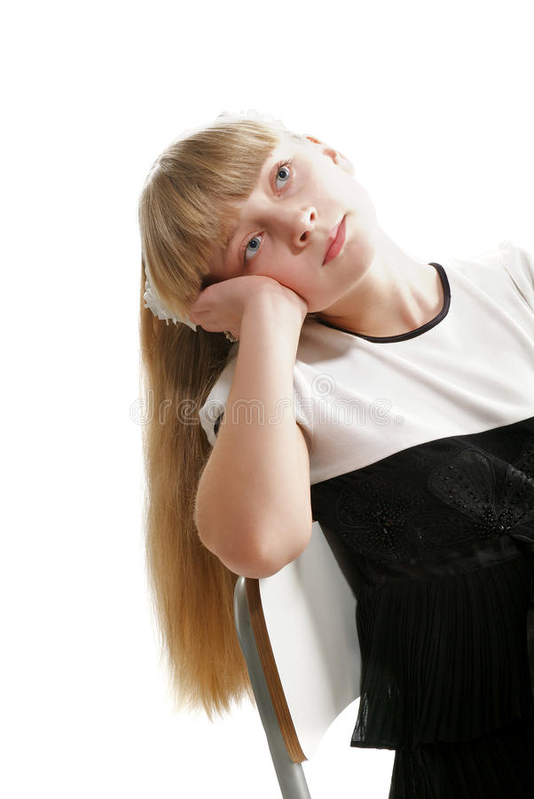 Download Girl Dreams stock image. Image of looking, disappointment - 29217319