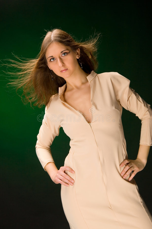 Girl in dress stock photography