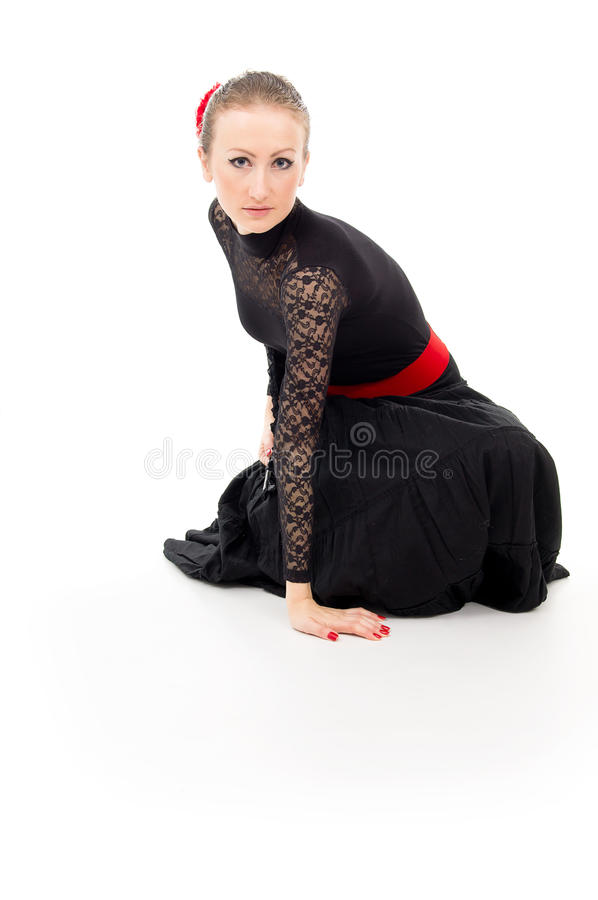 Download Girl In A Dress With A Fan Carmen And Isolated Stock Photo - Image: 28159476