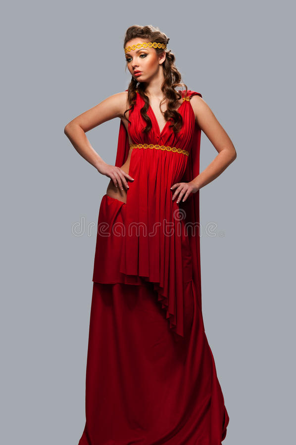 Download Girl In The Dress Of The Greek Goddess Stock Image - Image: 24266855