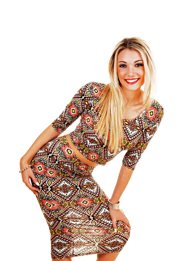 Girl in dress. stock photo