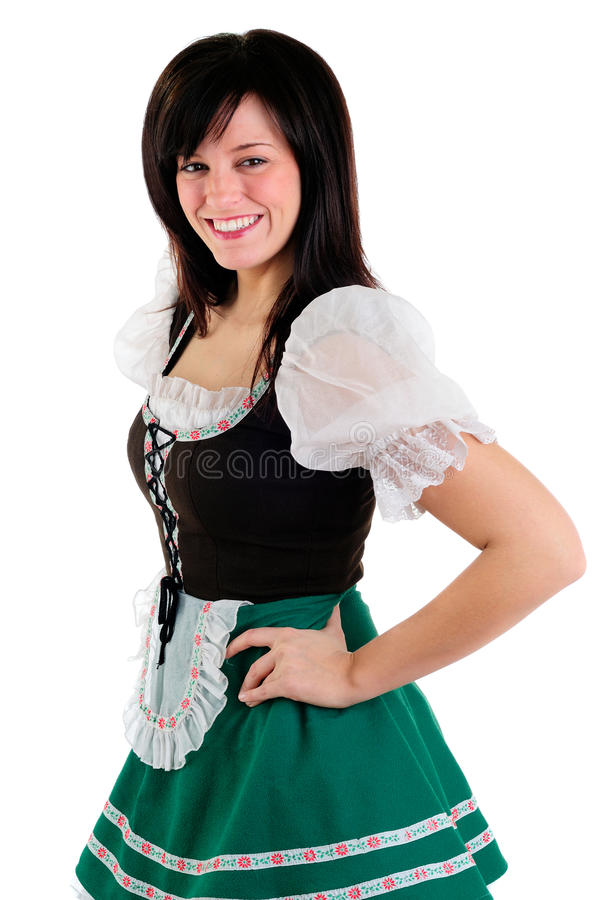 Girl In Drindl Royalty Free Stock Images