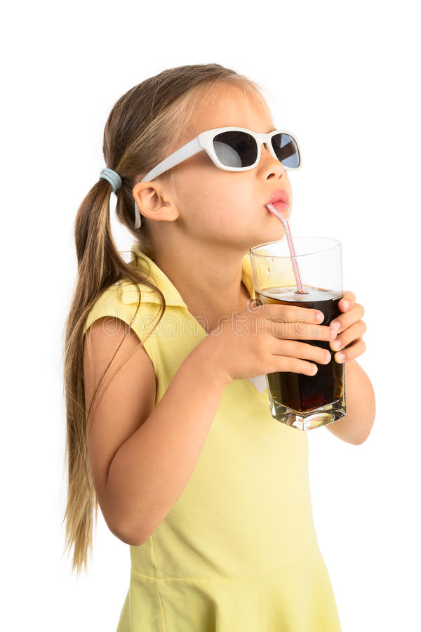 Girl Drinking Cola royalty free stock image